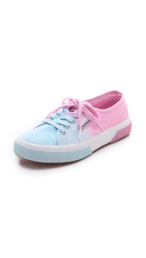 ombre sneakers superga ombre sneakers in pink lyst