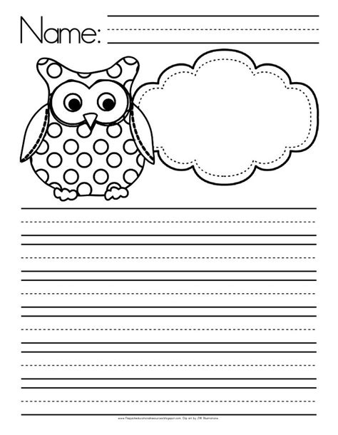 free themed writing paper owl themed writing paper free ideas for my owl themed