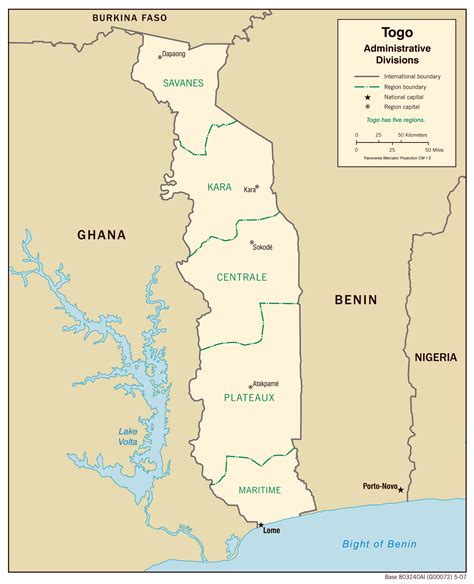 physical map of togo maps of togo map library maps of the world