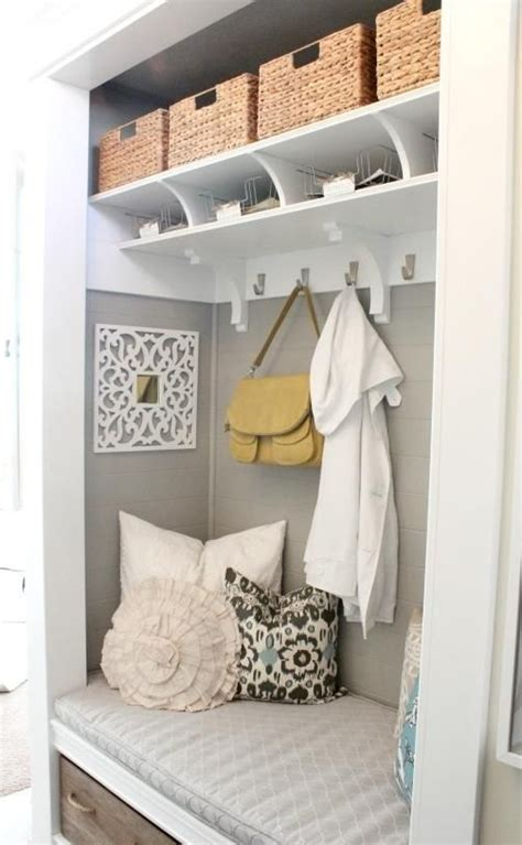 Most Awesome Mudroom Or Foyer Closet Reno I Ve Seen Remove Closet Doors