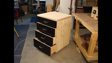 simple dado plywood rolling shop cabinet  youtube