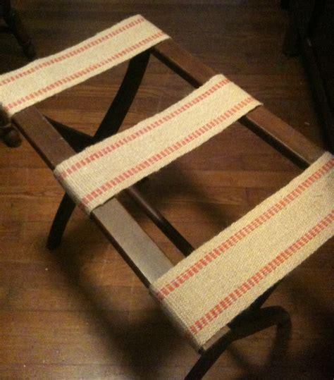 Handmade Suitcase - diy luggage rack side table danielle hatfield