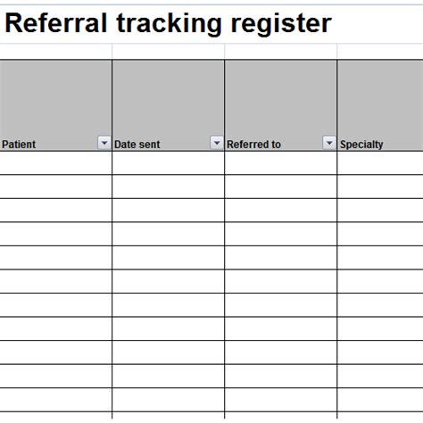 referral tracking template patient referral tracking template