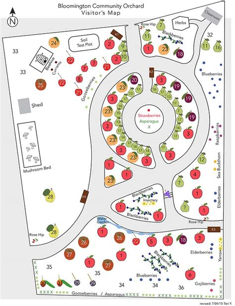 layout design of an orchard bloomington community orchard about