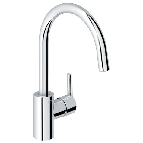 grohe feel starlight chrome one handle pull down kitchen