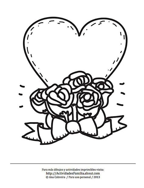 imagenes de rosas y corazones para colorear 10 dibujos de corazones para colorear