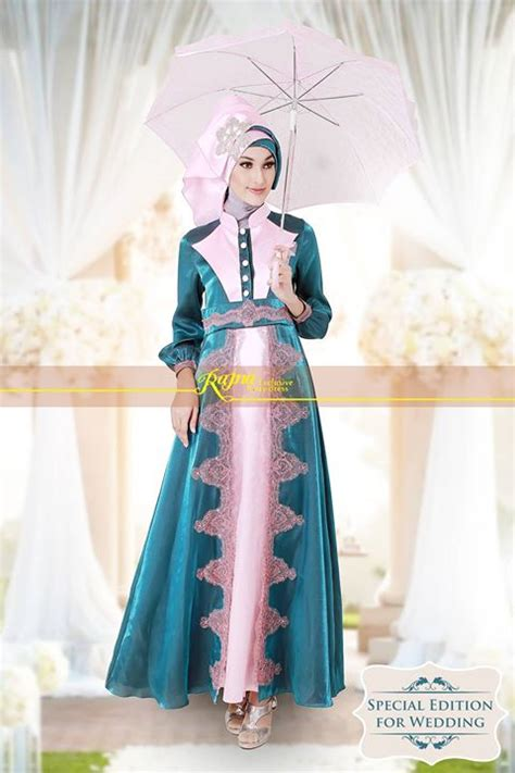 Gaun Pesta Modern Code 00313c15 rajna 11 tosca pink baju muslim gamis modern