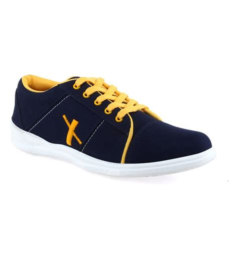 blue and yellow sneakers firx blue and yellow s casual shoes price in india
