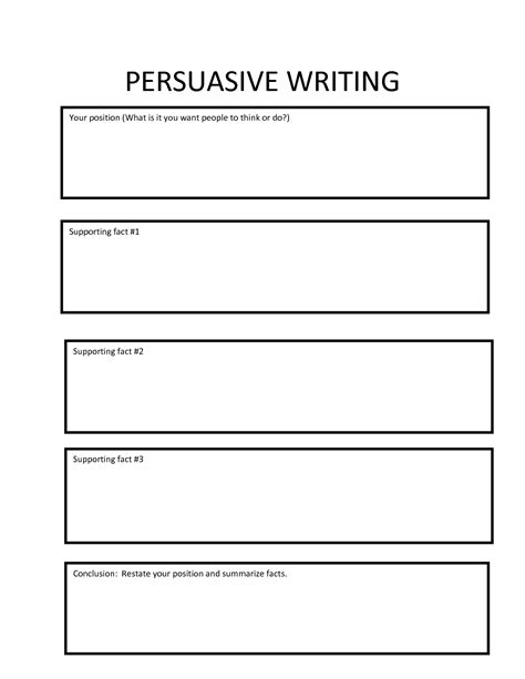 Writing Prompts For Persuasive Essays by Persuasive Essay Graphic Organizer Rtf Persuasive Writing Organizer Classroom Ideas