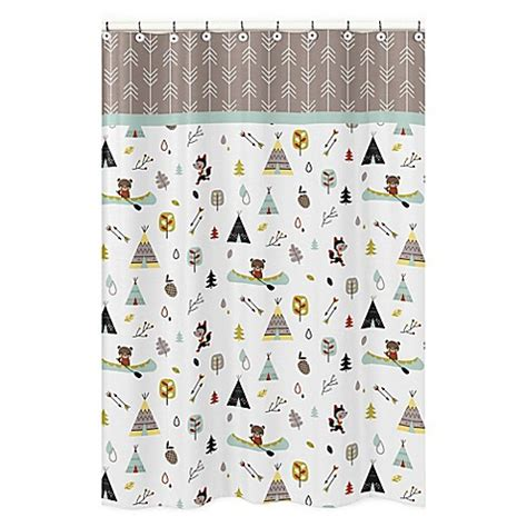 outdoor themed shower curtains sweet jojo outdoor adventure shower curtain buybuybaby com