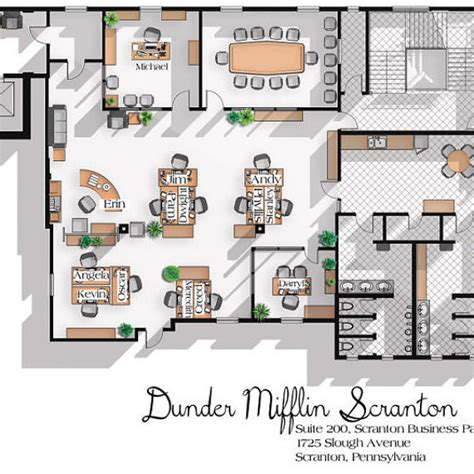 floor layout of the office dunder mifflin floor plan meze blog