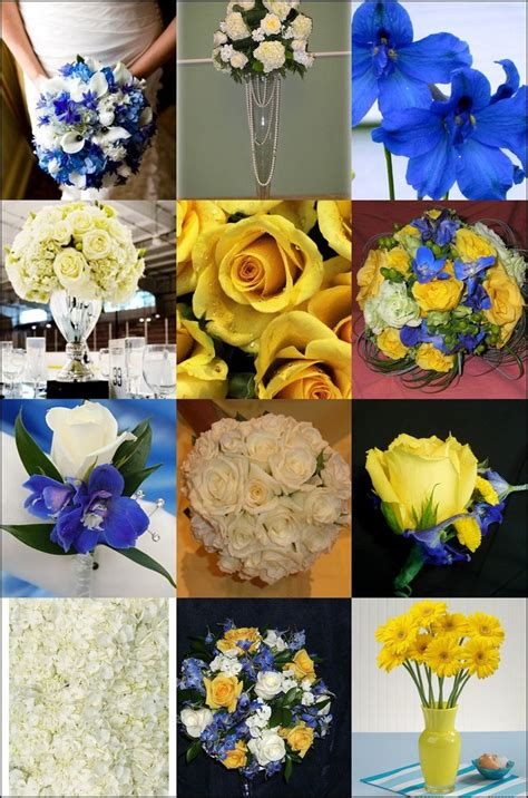 malibu blue and yellow wedding centerpieces