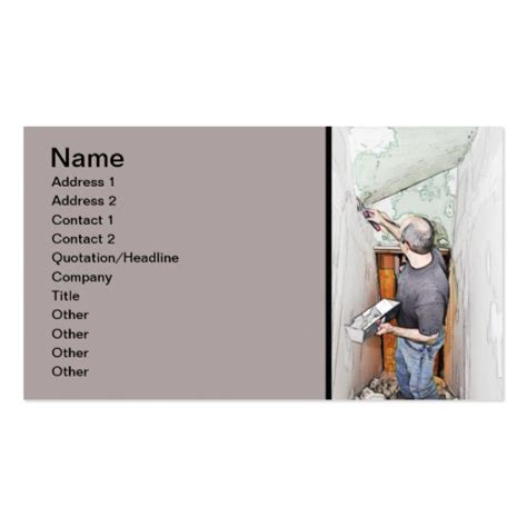 drywall business card templates spackling drywall zazzle