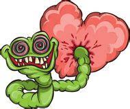 imagenes de corazones feos gusano y coraz 243 n fotograf 237 a de archivo imagen 7575662