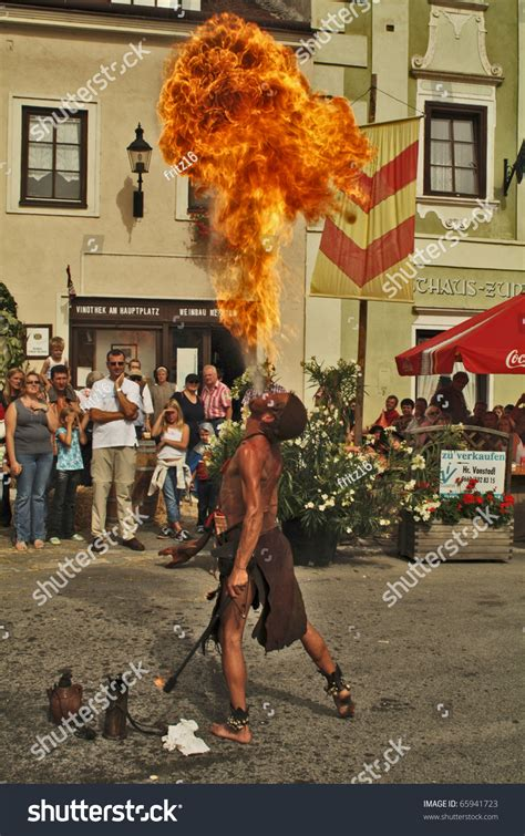 Wildfire Spectators Cause Problems eggenburg austria september 11 uunidentified performer eater and spectators