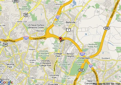 maryland map college park map of hton inn college park college park