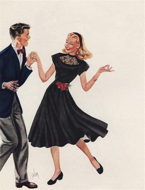 vintage dance 170 best swing dance illustration images on pinterest
