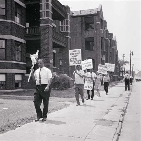 housing discrimination walter p reuther library dn 1119 naacp pickets housing discrimination detroit 1963