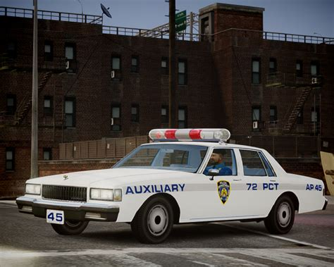 nypd auxiliary police section nypd auxiliary police 1987 chevrolet caprice gta iv