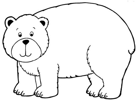 Bear Coloring Pages For Preschoolers | bear coloring pages preschool and kindergarten