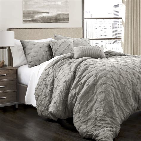 ravello pintuck 5 piece comforter set lush decor www