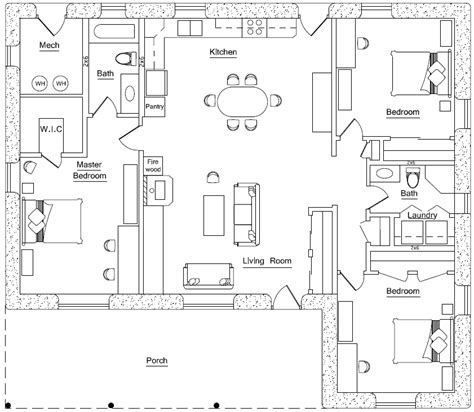 rectangular square earthbag house plans page 4
