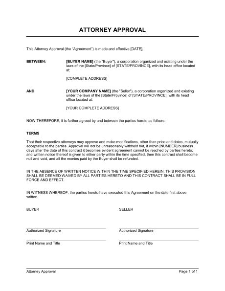 approval template attorney approval template sle form biztree