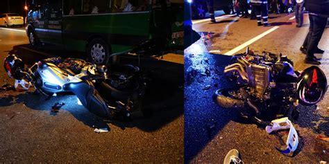 motosiklet cenaze kalabaliginin arasina daldi  yarali