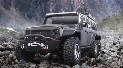 Mike Patton Jeep Automaker Turned A Jeep Wrangler Into A 6 Wheeled