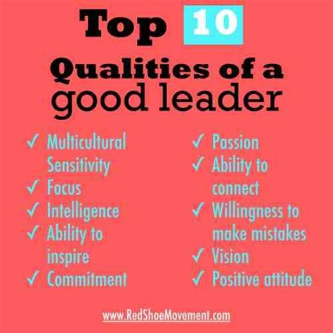 seven qualities that makes a good leader