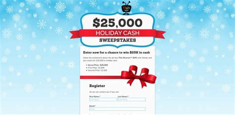 Holiday Cash Sweepstakes - tivo holiday cash sweepstakes