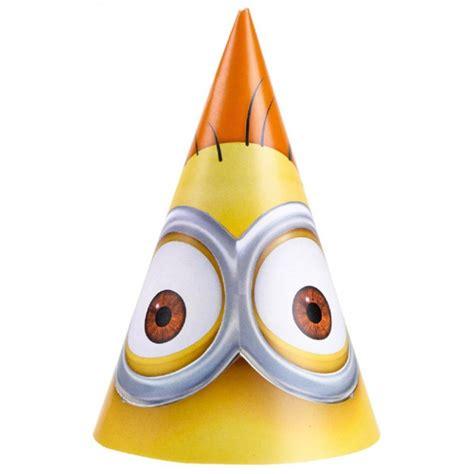 sombrero de minions sombreros cono minions 6 unidades comprar online en
