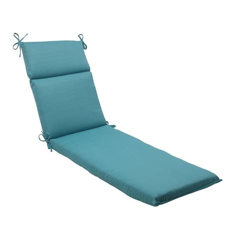 Shop pillow perfect forsyth turquoise solid cushion for chaise lounge at lowes com