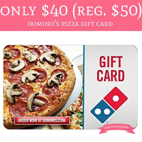 Dominos E Gift Card Amazon - only 40 regular 50 dominos egift card amazon deal hunting babe