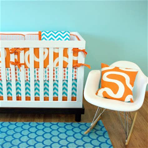 luxury turquoise and orange decor 58 for your image with blue and orange nursery crib sets bedding for baby girls