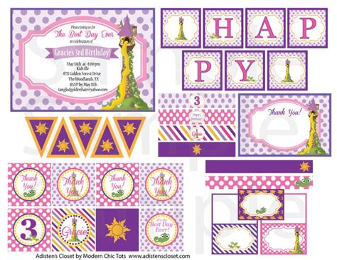 printable rapunzel birthday decorations 726 best images about reptile birthday party on pinterest