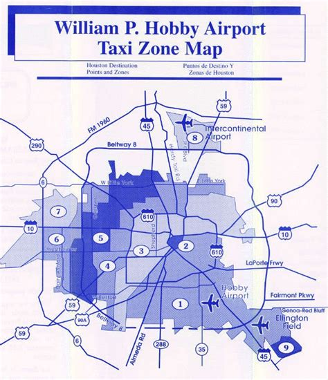 houston map hobby airport estimated houston taxi rates