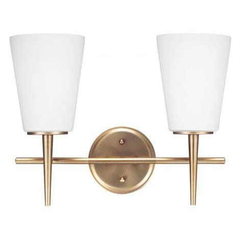 two light bathroom fixture sea gull lighting driscoll satin bronze two light bathroom