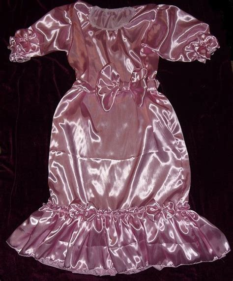 pinterest satin feminization adult baby sissy crossdresser pink satin by