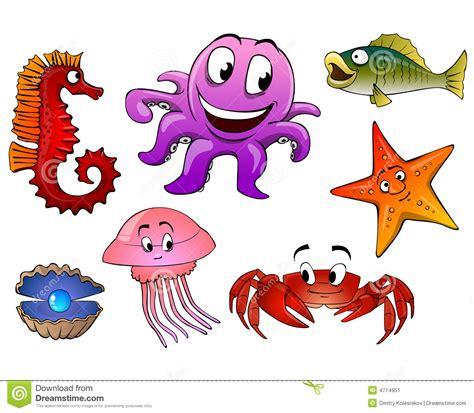 imagenes animales de mar animales de mar aislados imagen de archivo imagen 4714951