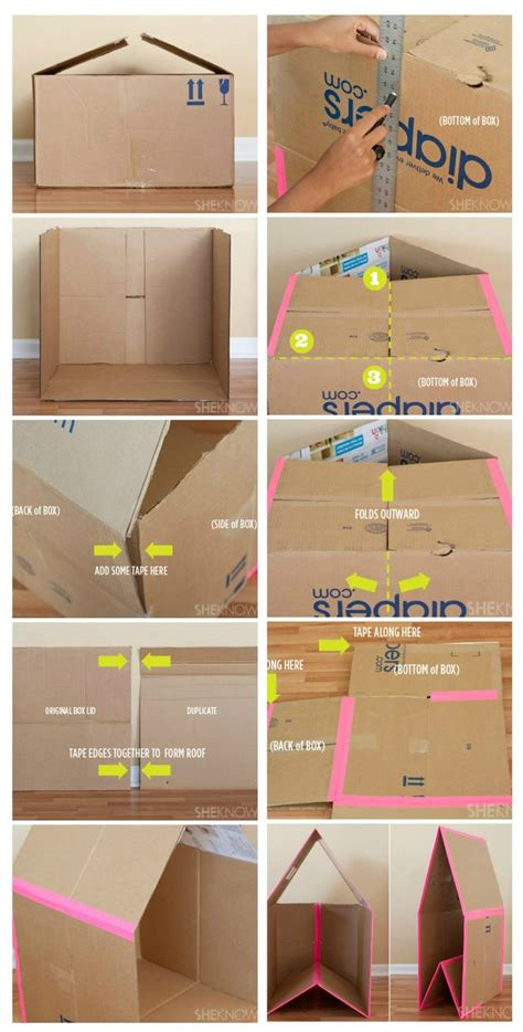 How To Make A Small Box Out Of Paper - 25 best ideas about cardboard box crafts on
