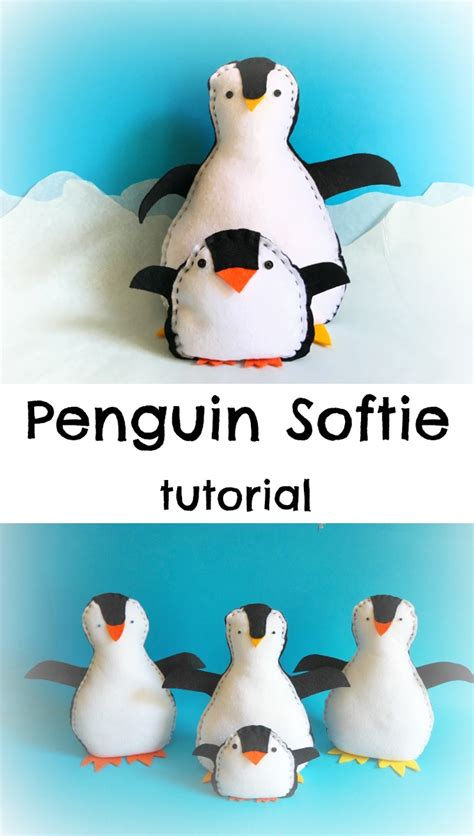 pengi the penguin softie allfreesewing penguin softie tutorial coloured buttons