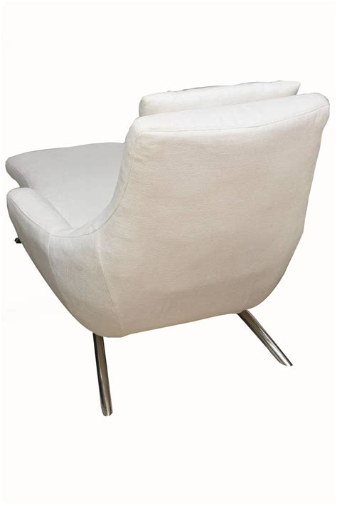 upholstered chaise lounge moderne sculptural stainless steel and upholstered kagan