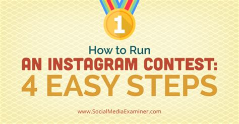 how to run an instagram contest four easy steps social media examiner - Running A Giveaway On Instagram