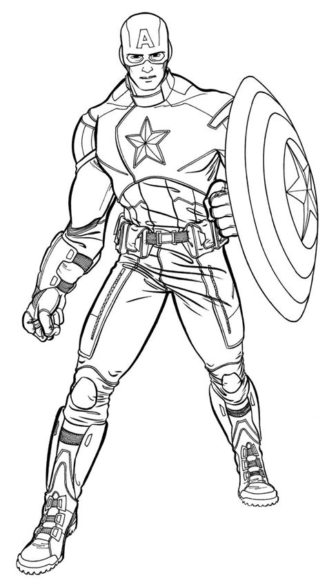Coloring Page Captain America by 25 Best Ideas About Captain America Drawing On