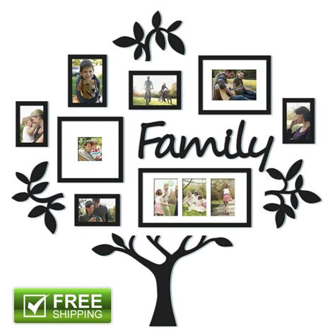 family frames for wall 12 picture photo frame set family tree collage