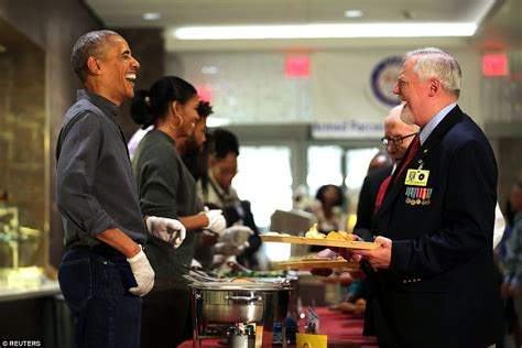 Obama Bringing Troops Home For The Holidays by Obama Helps Parents Serve Thanksgiving Meals To