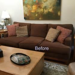 Kitchen Makeover Ideas On A Budget - classic casual home brown couch blues mini makeover before and after