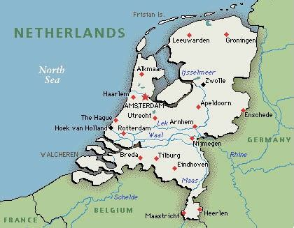 netherlands map airports amsterdam tour and travel guide