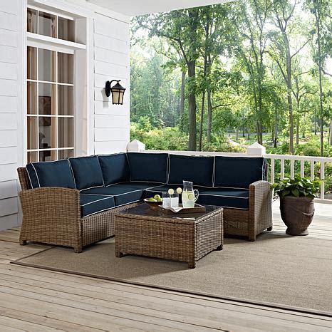 patio furniture bradenton crosley bradenton 4 outdoor wicker sectional with